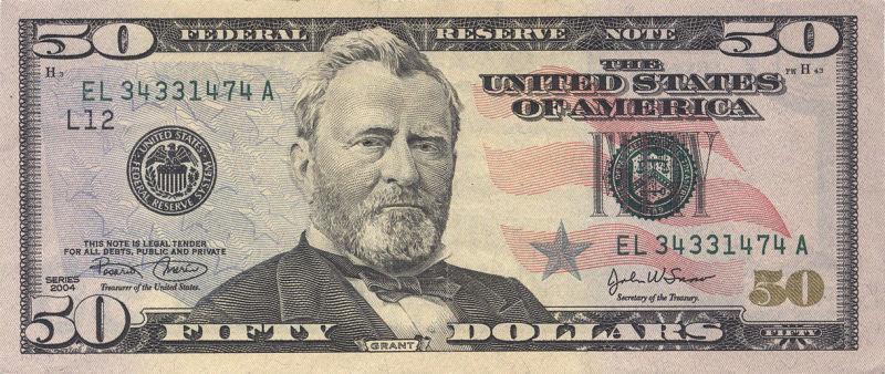A modern $50 bill
